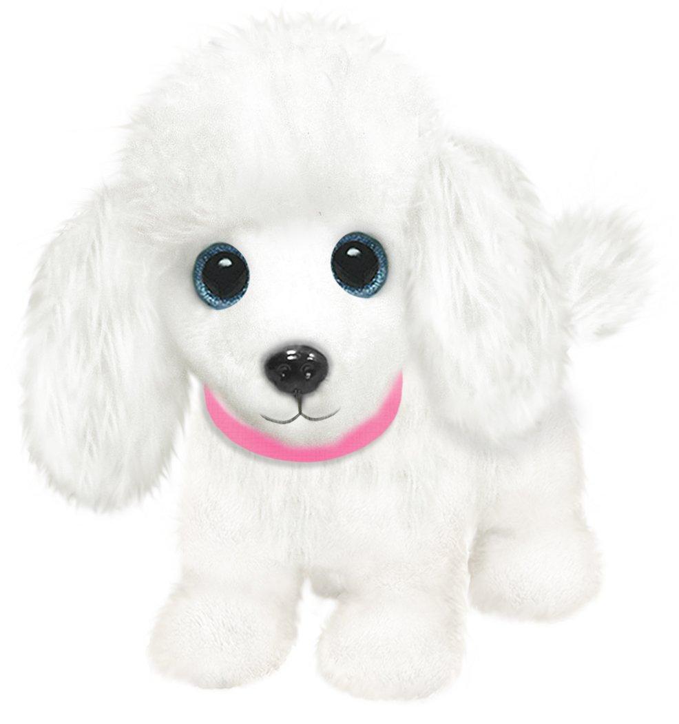 First & Main 7 White Wuffles Poodle Puppy Dog Basic Plush Toys 3774