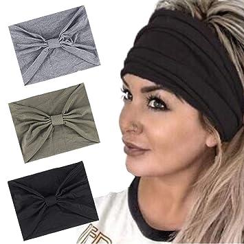 Turban Elastic Head Wrap Women Headbands Knotted Hairband Hair Bands