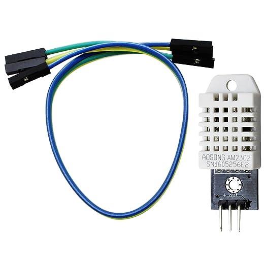 9 opinioni per COM-FOUR® DHT22/AM2302 sensore digitale sensore di temperatura e umidità, con