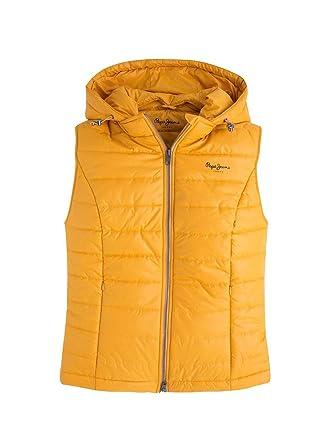 99f51468ebe70 Pepe Jeans Chaleco Luni Amarillo L Amarillo  Amazon.es  Ropa y accesorios