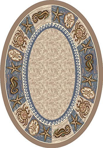 Milliken Signature Collection Sea Life Oval Area Rug, 3'10