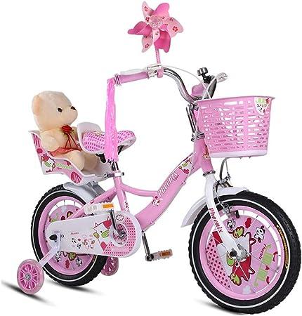 DT Bicicletas para niños Bicicletas para bebés de 3 años 2-4-6-7-8-9-10 años 12/14/16 Pulgadas Carro de Bicicleta para niña Enviar pequeños Juguetes (Color : Pink, Tamaño : 14 Inches): Amazon.es: Hogar