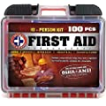 Be Smart Get Prepared 100piece First Aid Kit Exceeds Osha Ansi Standards For 10 People Office Home Car School Emergency Survival Camping Hunting Sports