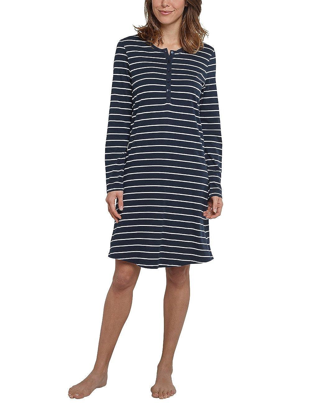 Schiesser Damen Nachthemd Langarm 161068