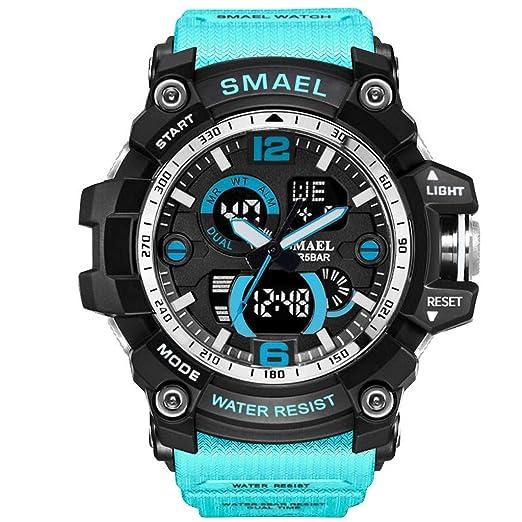Moda Reloj Elegante de los Hombres Bluetooth Digital Deportes Reloj de Pulsera Impermeable Elegantes Relojes multifunción Integral Deportivo Reloj: ...