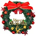 "Lvydec Cotton Wreath Decor, 16""-20"" Adjustable Cotton Stems Wreath with Full White Fluffy Cotton Bolls for Farmhouse Decor Front Door Wall Wedding Centerpiece"