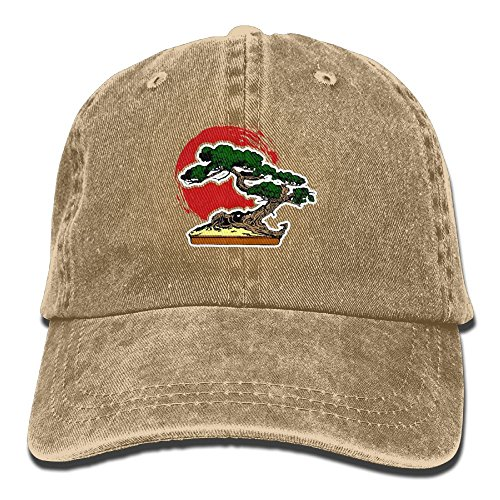 Arsmt Green Bonsai Tree Denim Hat Adjustable Mens Surf Baseball Hats