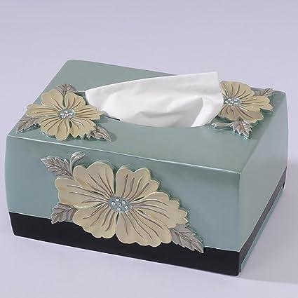 Amazon Com Lpy Tissue Box Peony Style Handicrafts Carved Flowers