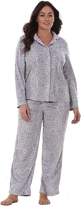 TALLA S - EU 34/36. Conjunto de Pijama para Mujer - Forro Polar - Estampado