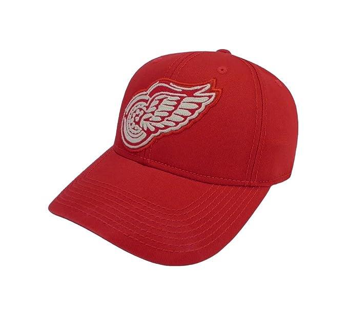 CCM Men s NHL Hat Detroit Red Wings Structured Adjustable Red One Size Cap 8923ba8af