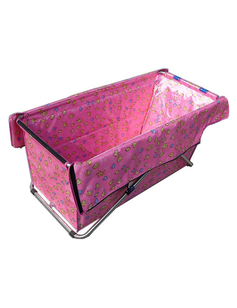 2 Inflatable bathtub Stainless Steel Bracket High Quality Waterproof Cloth Foldable Bathing Adult Simple Free (color   2)