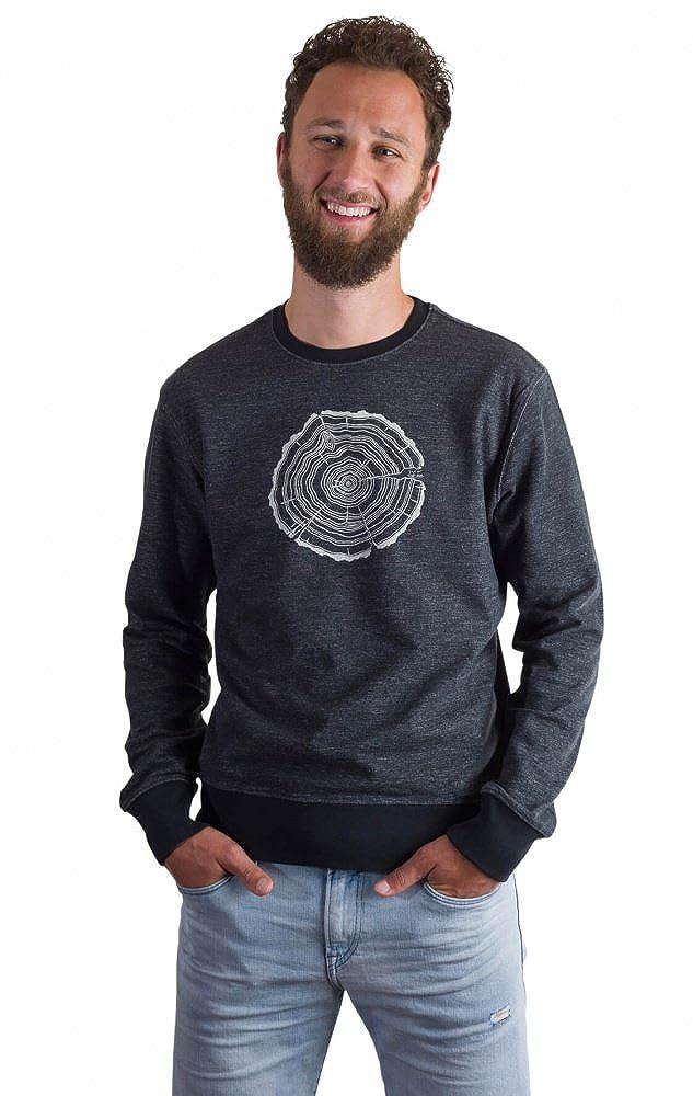 Fairwear Organic Sweater Men Limo Grau Treeslice aus Bio-Baumwolle von Life-Tree