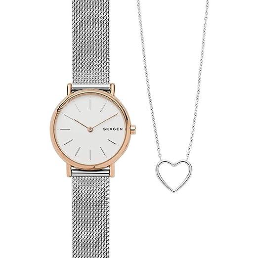 Skagen Reloj Analógico para Mujer de Cuarzo con Correa en Acero Inoxidable SKW1106: Amazon.es: Relojes