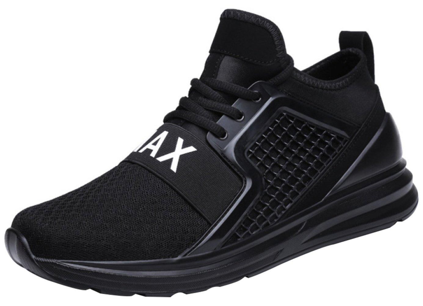 Zapatillas Casuales De Los Hombres Con Zapatos De Senderismo Transpirables De Moda 44EU|Black