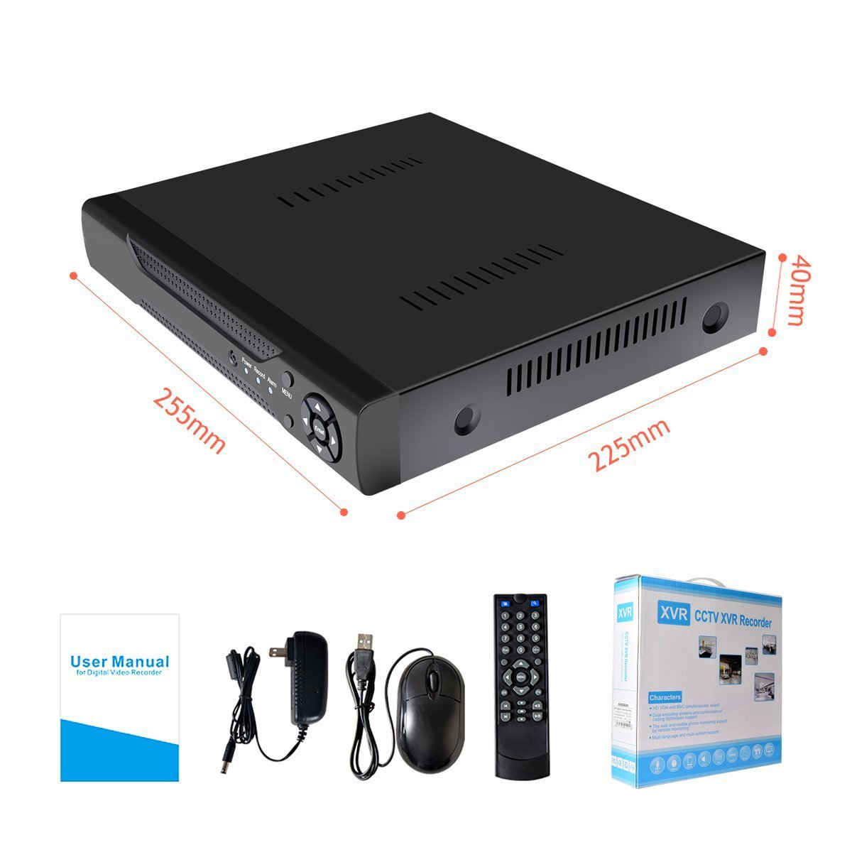 16 Channels DVR Recorder Hybrid DVR H.264 CCTV Security Camera System Digital Video Recorder(No hard drive included) by Abowone (Image #7)