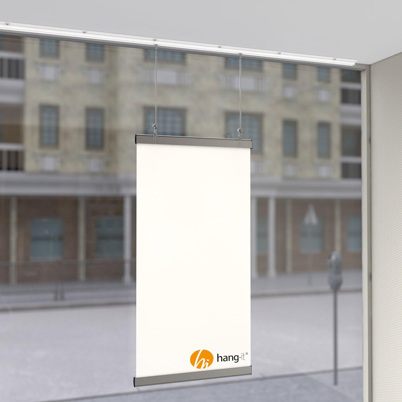 Bilderschienen Komplett Set 5 x 2m Galerieschienen hang-it 10 Meter Deckenschienen