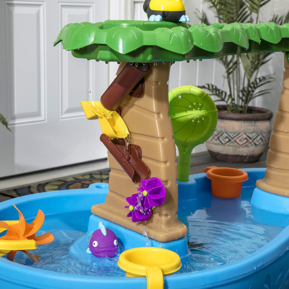 Step2 Tropical Rainforest Water Table | Colorful Kids Water Play Table with 13-Pc Accessory Set by Step2 (Image #4)