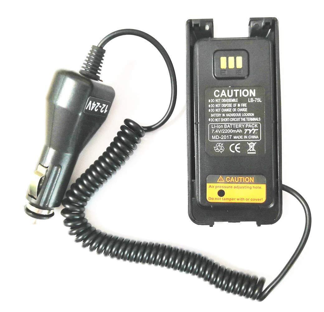 Car Charger Battery Eliminator 12V-24V for DMR Ailunce HD1 Digital Two way Radio
