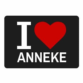 Alfombrilla Classic I Love Anneke negro