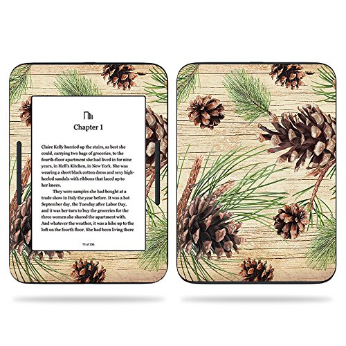 (MightySkins Skin Compatible with Barnes & Noble Nook GlowLight 3 (2017) - Pine Collage | Protective, Durable, and Unique Vinyl Decal wrap Cover | Easy to Apply, Remove | Made in The USA)