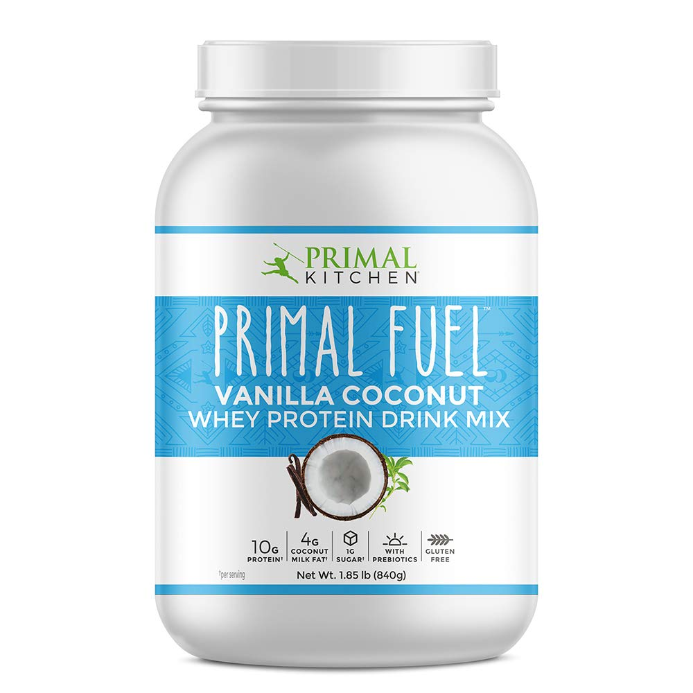 Primal Kitchen Primal Fuel Vanilla Coconut Whey Protein Powder- Updated Contains No Soy - 10g of Protein (1.86 Lbs) by Primal Kitchen