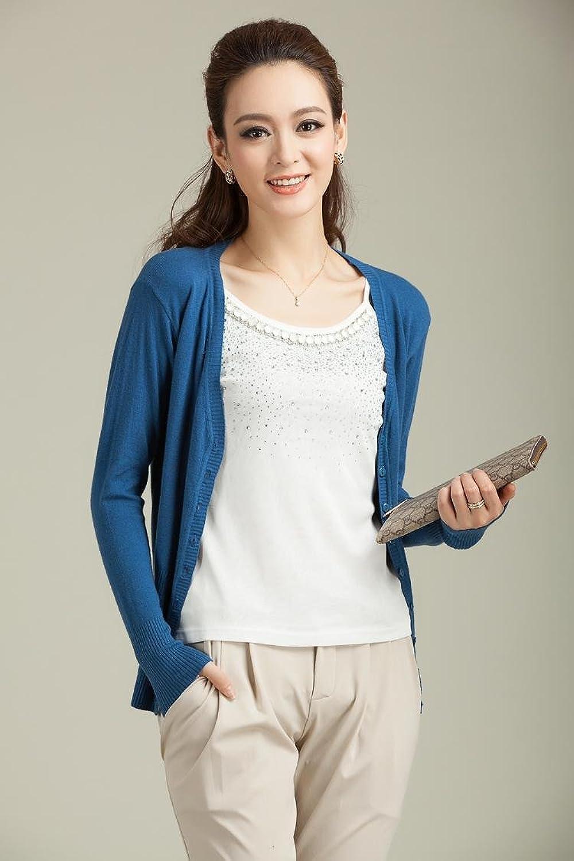 针织衫 女 开衫 薄_针织开衫女空调衫短款 短袖针织开衫女夏薄短款空调衫