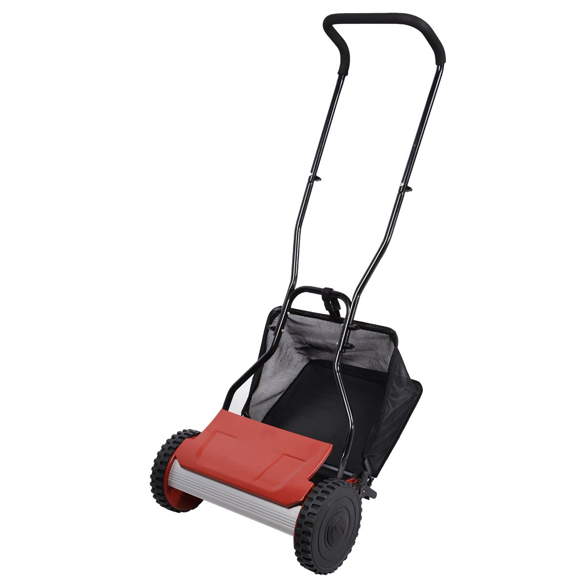FDS Manual Lawn Mower Garden Hand Push Grass Cutting Cylinder 38cm Cutting  Width