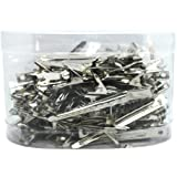 60 Pcs Salon Hairdressing Clips Flat Steel Silver Hair Styling Section Clips Accessories Hair Cutting Clips for Women