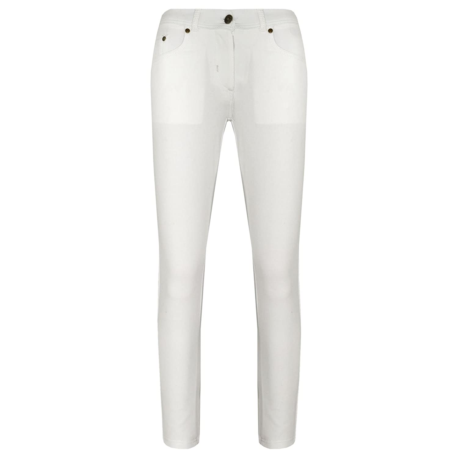 A2Z 4 Kids Girls Skinny Jeans Kids Stretchy Jeggings Denim Fit Pants - Girls Jeggings 061 White 11-12