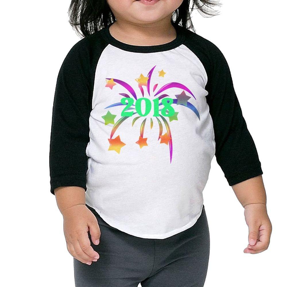 Rainbow Flower 2018 Lover Kid 3//4 Raglan T-Shirt 3//4-Sleeve Raglan Tee 100/% Cotton