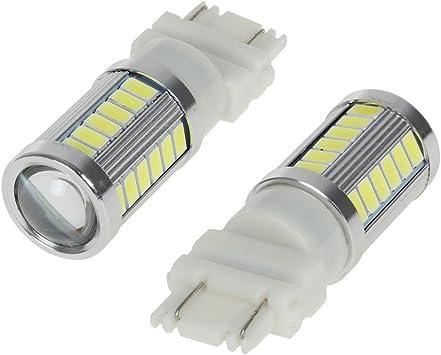10x White 3157 3156 5730 33-SMD Tail Brake Stop Daytime Running LED Light Bulbs
