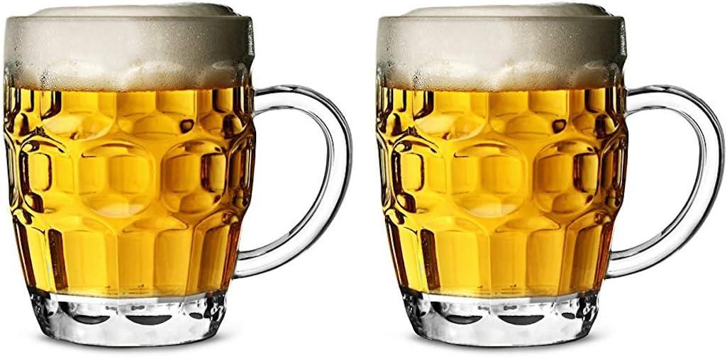 Jarra de cerveza de plástico de policarbonato CE, 568 ml, juego de 2 tazas de cerveza de barril, taza de pinta, jarra de pinta, jarra de plástico