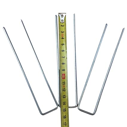 Ordinaire 6 Inch U Shaped Garden Landscape Staples Stakes Pins Securing Pegs Spikes  Sod Staple For