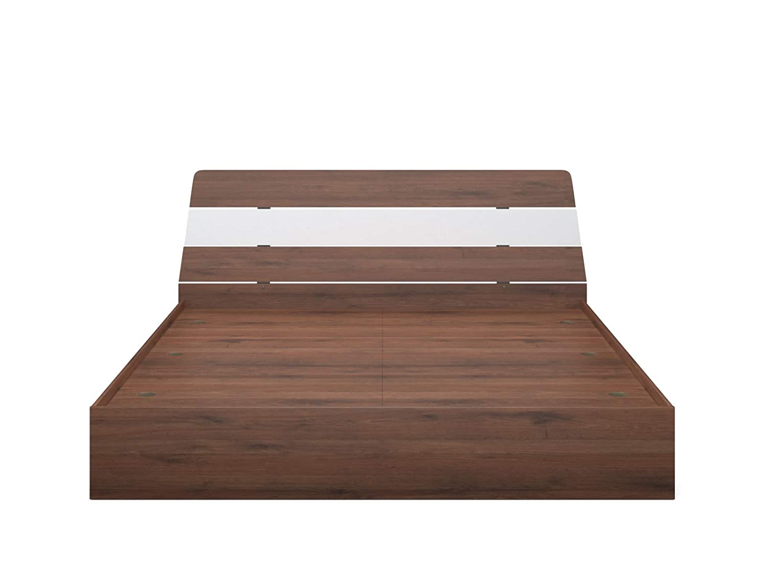 Forzza Preston 2 - Toned King Size Bed (Walnut & Oak)