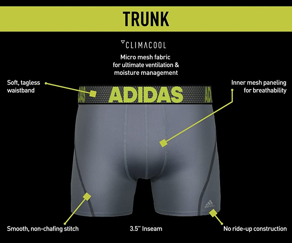adidas Men's Sport Performance ClimaCool Trunk Underwear (2-Pack): Clothing