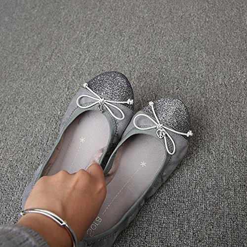 &huo Zapatos, arco, fondo suave cómodo, zapatos del baile del ballet, zapatos planos 38