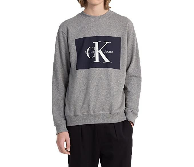 Calvin Klein Jeans J30J306988 HOTORO Sudadera Hombre Light Grey XL