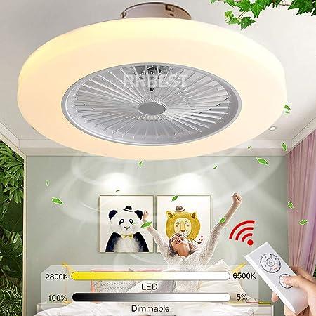 RRBEST LED Ventilatori A Soffitto Silenzioso Lampada da Soffitto A Ventola da 72W con Illuminazione E Telecomando Lampadario Dimmerabile Fan per Camera da Letto Soggiorno Camera dei Bambini Brown