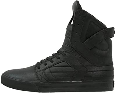 Mens Leather Skate Trainers Shoes Boots
