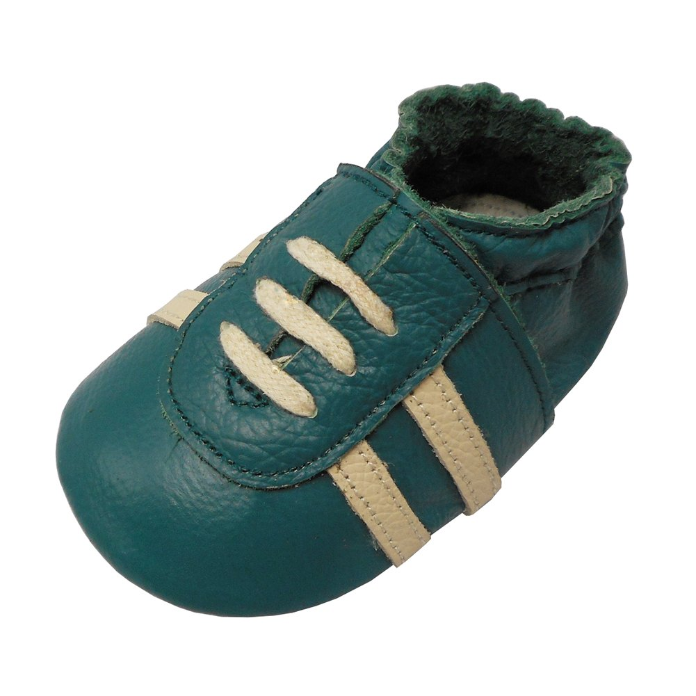 YIHAKIDS Baby Sneaker Genuine Moccasins Multi-Colors with Soft Suede Sole Toddler Shoes