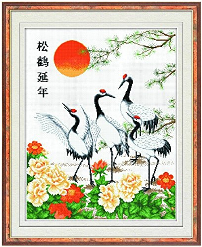 Happy Forever Cross Stitch, animal, Longevity pine crane 2