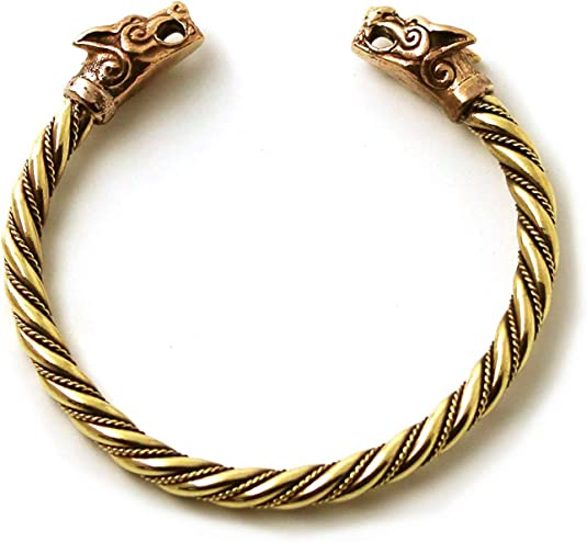 Naomi Fenrir Pengan Wolves Bracelet Norse Viking Wolf Bangles Handmade Cuff Jewelry
