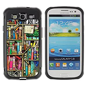 BullDog Case@ Reading Library Teach School Rugged Hybrid Armor Slim Protection Case Cover Shell For S3 Case ,I9300 Case Cover ,I9308 case ,Leather for S3 ,S3 Leather Cover Case