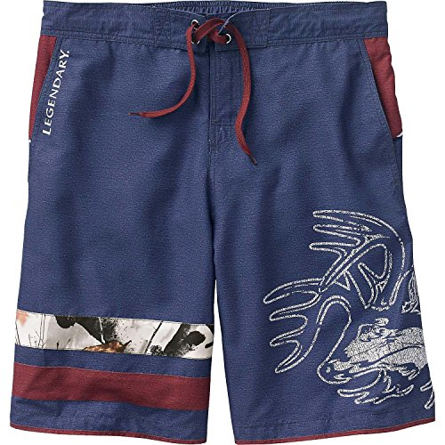 Med Trunk - Legendary Whitetails Mens Freedom Swim Trunks Ocean Medium