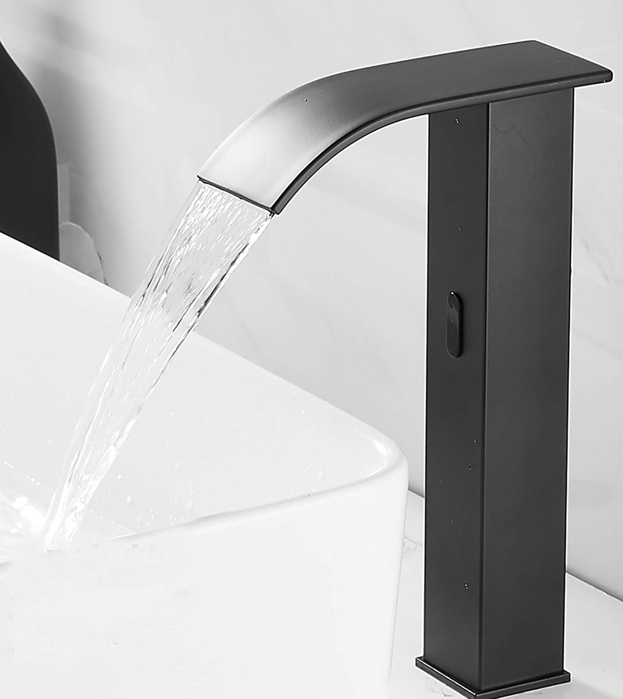 Black Oil Bathroom Vessel Basin SInk Automatic Sensor Taps Mixer Deck Mounted