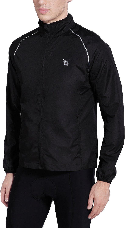 BALEAF Mens Cycling Running Jacket Windproof Windbreaker Breathable Coat