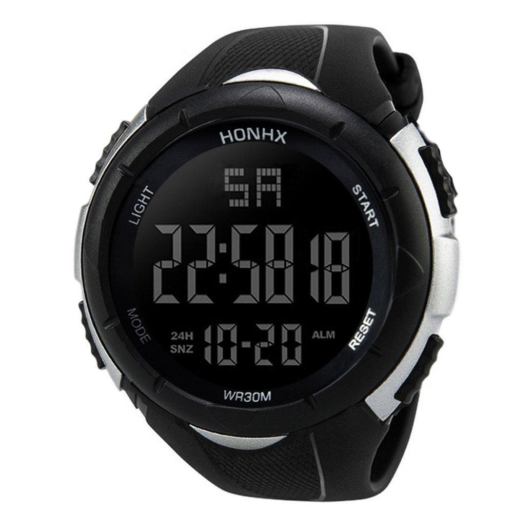 mostsola Luxury Men Military Army Sport LED防水アナログデジタル手首腕時計 ホワイト B07D11759W ホワイト ホワイト