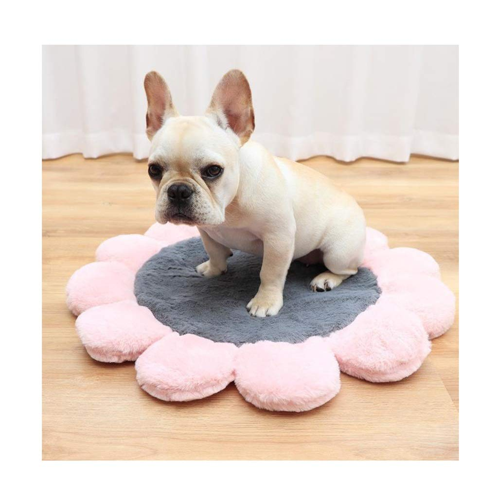 Diameter-100cm DSADDSD Pet Mat Blanket Pet Kennel Four Seasons Available Comfortable Pet Supplies (Size   Diameter-100cm)