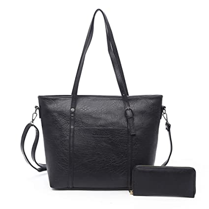 17098a791845 Amazon.com: GMYANDJB Designer Retro Leather Shoulder Bag Set Large ...