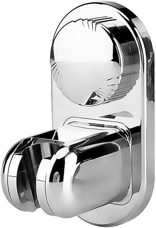 JOMOLA Vacuum Suction Cup Shower Head Holder 4 Mode Angle Adjustable Handheld Shower Head Wall Bracket Stainless Steel Removable Bidet Sprayer Holder Brushed Finish